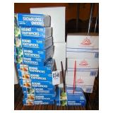Stirrers 6 boxes and Round Tooth Picks 12 boxes