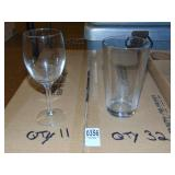 16 Oz. Mixing Glasses 32 count Wine/Beer Glasses