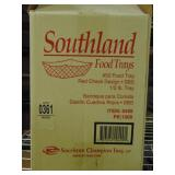 #50 Food Trays Red Check Design 1/2 lbs. tray 800