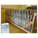 45 Metal Folding Chairs on Cart
