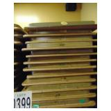 "13 Wooden Folding Banquet Tables 96""x30"""