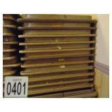 "12 Wooden Folding Banquet Tables 96""x30"""