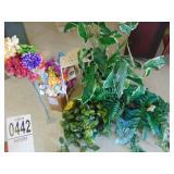Faux Plants and Flowers Plus Vases