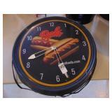 Berks Food Hot Dog Plug in Clock