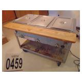 Waterless Food Warmer 3 Well with Butcher Block Le