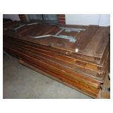 9 Wooden Banquet Tables on cart