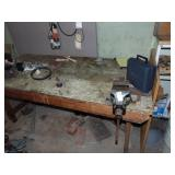 Vise and Wooden Work Bench