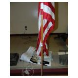 American Flag and Banners