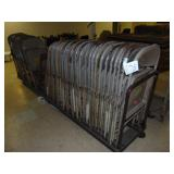 42 Metal Folding Chairs 1 Wooden on Cart