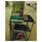 Stainless Steel Cart Office  Supplies and Mirror