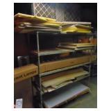 """Metal Shelf and Contents 56"""" x 20""""x 62""""H"""