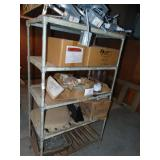 """Metal Shelf and Contents 36"""" x 20""""x 62""""H"""