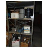 """Metal Shelf and Contents 36"""" x 24"""" x 75"""" H"""