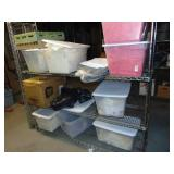 """Stainless Steel Shelf and Contents 71"""" x 24"""" x 74"""""""