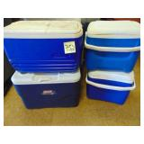 (4) Coleman and Igloo Coolers