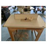 Portable router and table