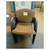 4 Upholstered Office Chairs on Wheel