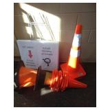 Orange Safety Cones and Signs