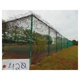 Chain-link Fencing with 4 Doors