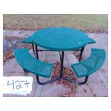 Metal Coated Round Picnic Tables