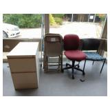 File Cabinet Chairs Telescopic Pole