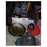 Clock Ashtrays and Office Supplies