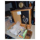 Cabinet Lamp Glassware Clock