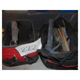 2 Tool Bags  Nails Caulk Guns