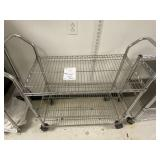 large metal food cart