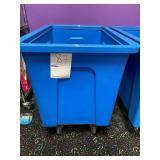 Blue Plastic Tote