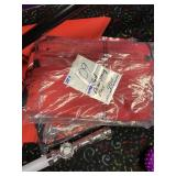 red drawstring bags approx (40)