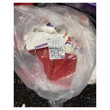 bag of small white tshirt and a few red over 50ct
