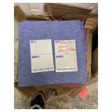 (3) boxes of Floor tiles mixed colors