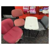 3 used chairs and small table