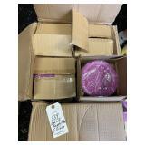 full box of purple plates