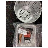 foil pans and large straining pot