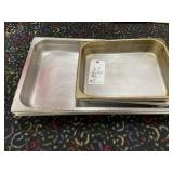 (4) assorted cooking pans