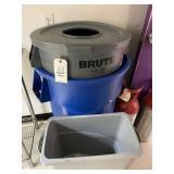 (3) trash cans