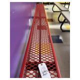 red metal Bench