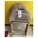 (6) folding chairs 5 padded 1 not