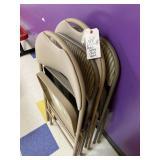 (4) metal padded folding chairs