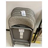 (5) padded folding chairs