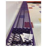 Purple Metal Bench