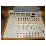 audio arts 8 channel mixing board with meter bridg