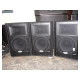 3 Samson stage monitor