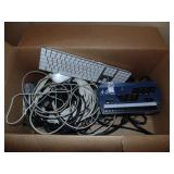 box lot of assorted wires