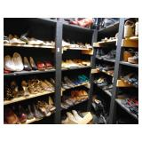 closet full of womens shoes