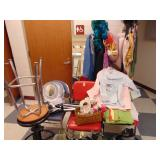 costumes, head gear, clothes rack,