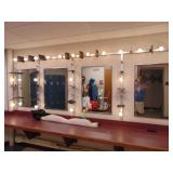 4-mirror set w/make-up lights