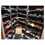room full of mens shoes
